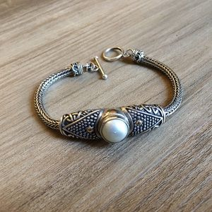 .925 Sterling Silver and Mother of Pearl Bracelet